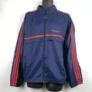 Vintage Adidas Windbreaker Racing Stripe Hoodie